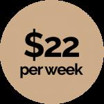 $22week